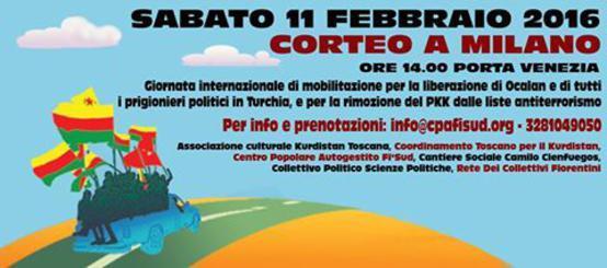 Volantino Volantino 11 Febbraio 2017 Corteo a Milano al fianco del popolo Curdo