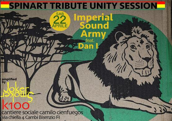 Volantino Volantino 22 Aprile 2017 Spinart Tribute Unity Session Imperial Sound Army feat
