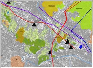 Mappa parco della piana
